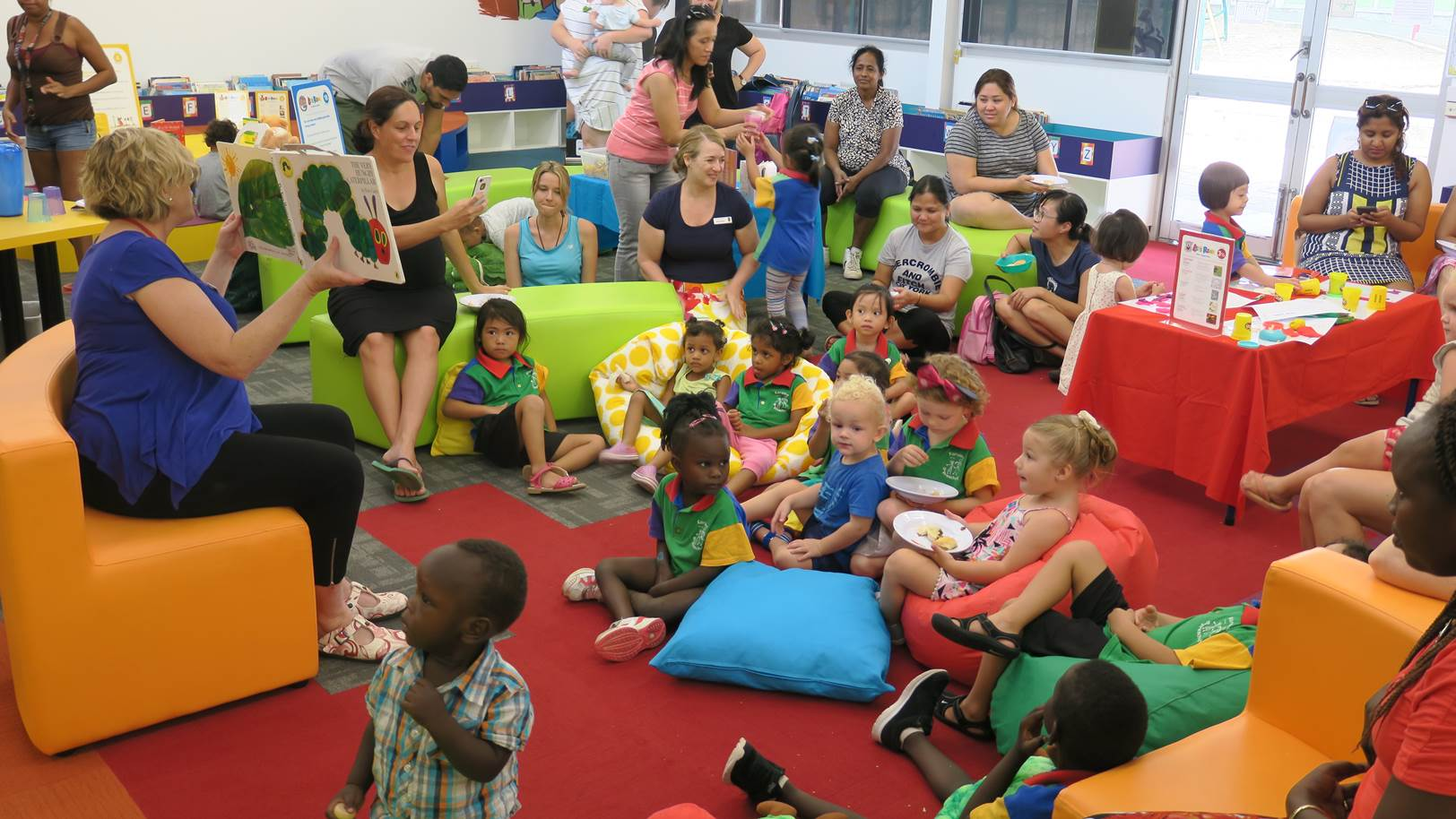 Gray Primary School students during story time