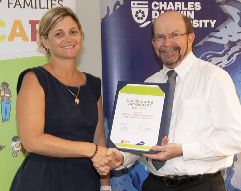 Territory Families and Charles Darwin University Collaborative Agreement Signing