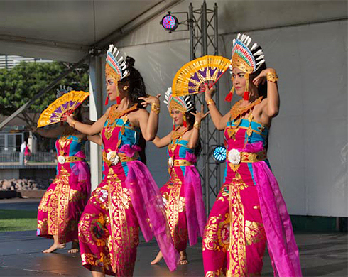 Balinese dancing at the 2016 Harmony Soiree